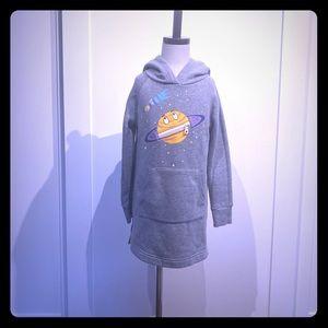Spotted zebra hooded sweatshirt